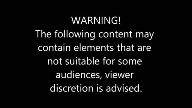 Warning: Content May Be Offensive or Disturbing to Some Audiences.