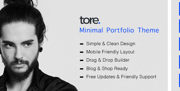 Tore - Minimal Portfolio WordPress Theme by zozothemes