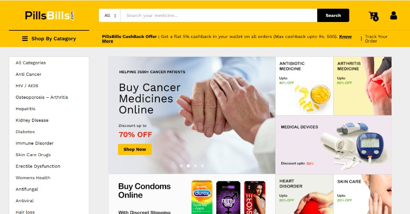 PillsBills - India's First Speciality Online Pharmacy in Delhi