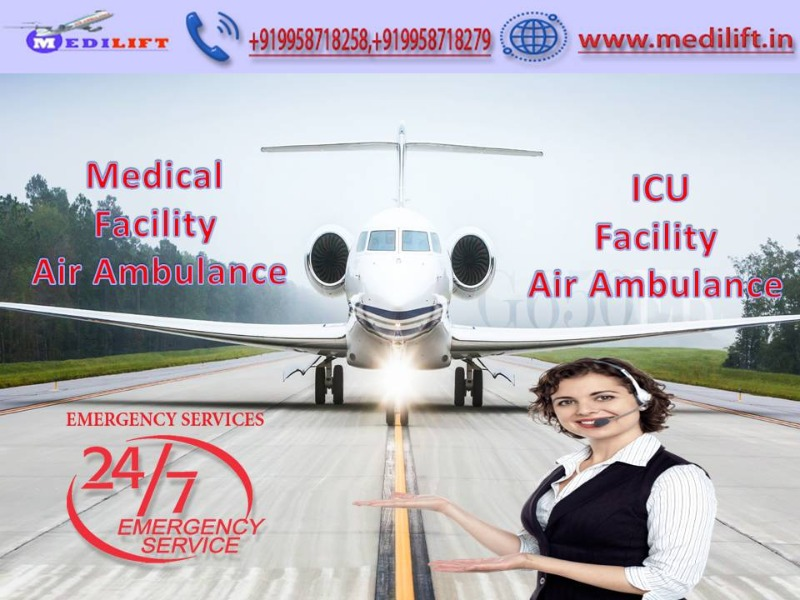 Take Fast Patient Transfer Air Ambulance Service in Bhopal by Medilift in  listed under Services - Other