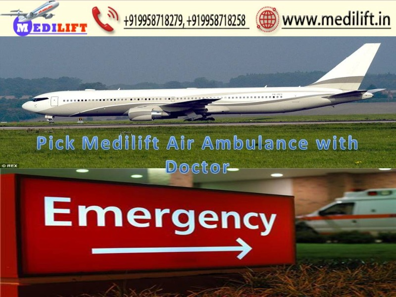 Take Modern Air Ambulance Patna to Delhi by Medilift in  listed under Services - Other