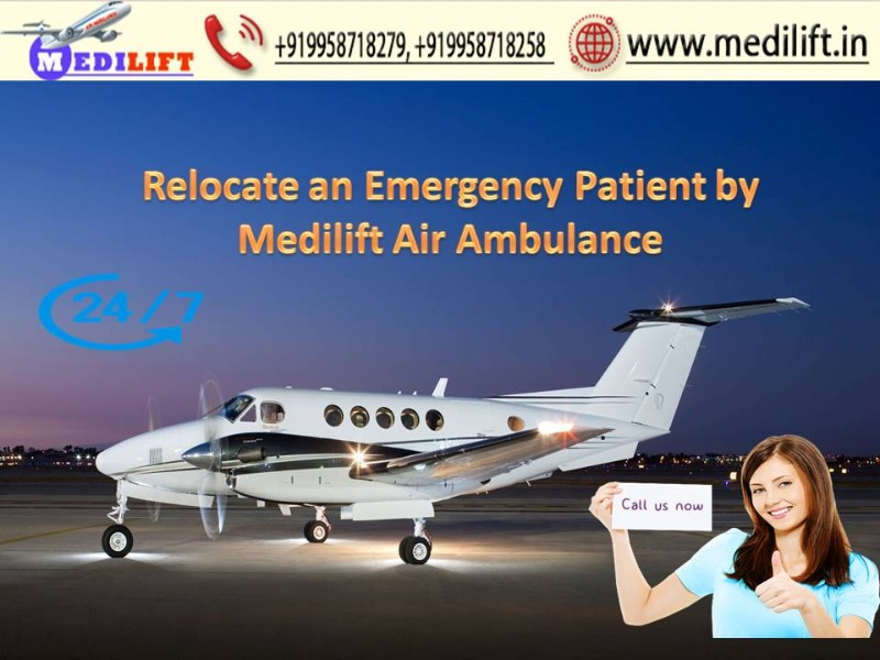Book Hassle-Free Air Ambulance Ranchi to Delhi by Medilift in  listed under Services - Other