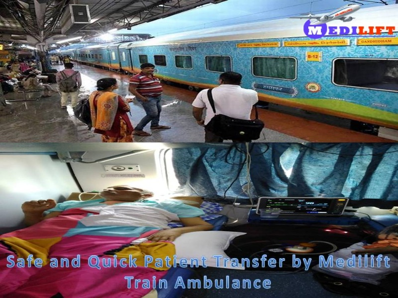 Now Easily Get Medilift Train Ambulance from Patna at Low Fare in Ranchi listed under Services - Healthcare / Fitness