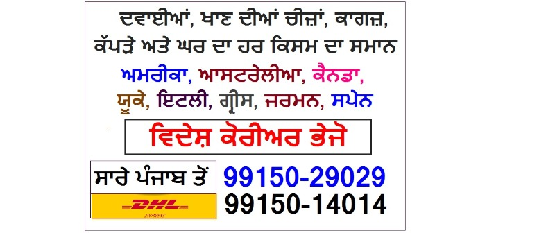 CALL 99150-29029 DHL Courier any Food Items Delivery to USA Canada Australia .UK in LUDHIANA listed under Services - Courier Services