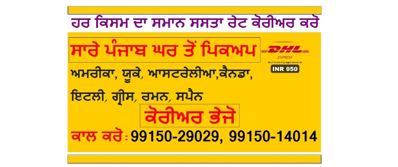 CALL 99150-29029 DHL Courier any Food Items Delivery to USA Canada Australia .UK in LUDHIANA