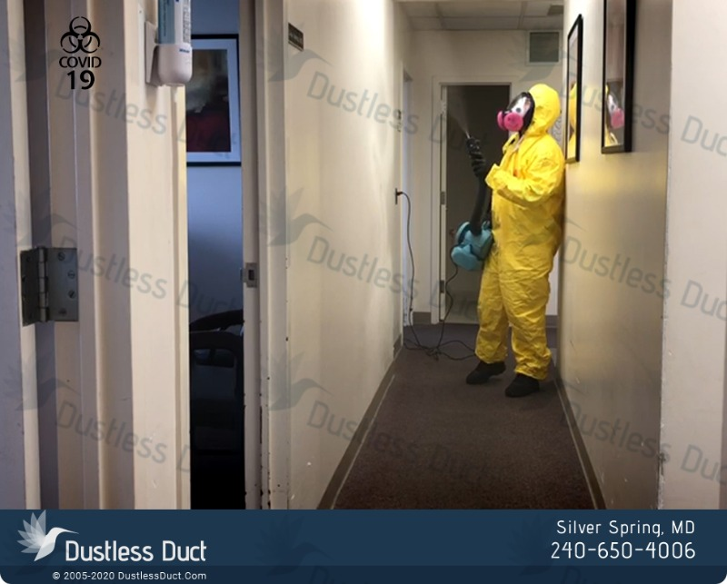 Sanitizing and Disinfecting Services - Dustless Duct  in Silver Spring