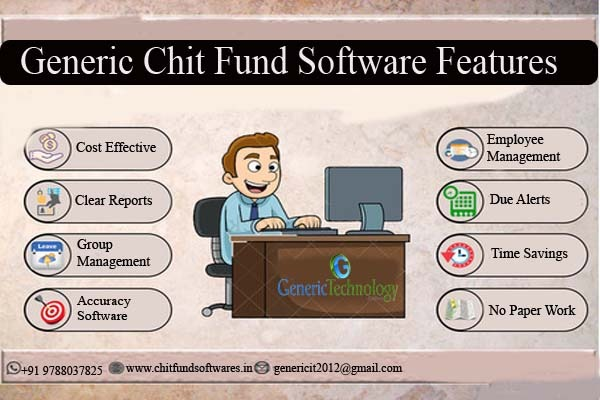Generic Chit Fund Software Features in  listed under Services - Computer / Web Services