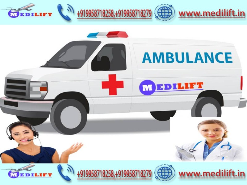 Advantage of Medilift Ambulance Service in Saket with Doctor  in  listed under Services - Healthcare / Fitness