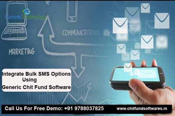 Integration Bulk SMS Options Using Generic Chit Fund Software in  listed under Services - Computer / Web Services