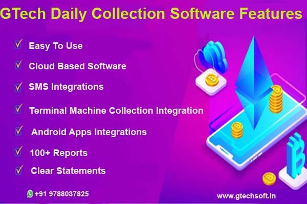 GTech Daily Collection Software Features in  listed under Services - Computer / Web Services