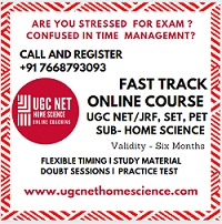 UGC NET/JRF Home Science Online Coaching in INDIA