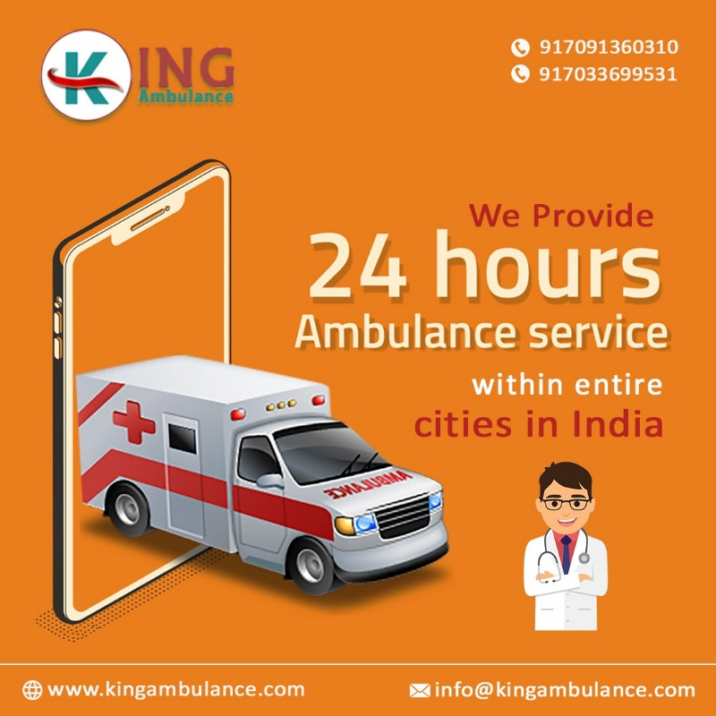 King Road Ambulance in Patna Low Charges Solution in  listed under Real Estate - Land / Plots for Sale