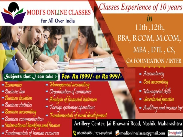 Institute For Online Class Nashik in  listed under Education - Distant Learning