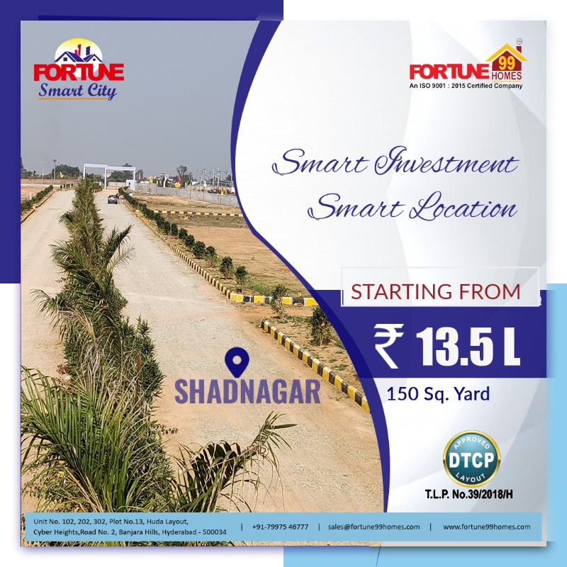 Open Plots for sale in Shadnagr | Fortune99Homes in  listed under Real Estate - Land / Plots for Sale
