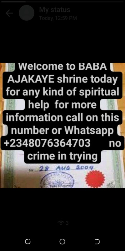 The best powerful spiritual herbalist native doctor in Nigeria+2348076364703 in  listed under Entertainment - Others