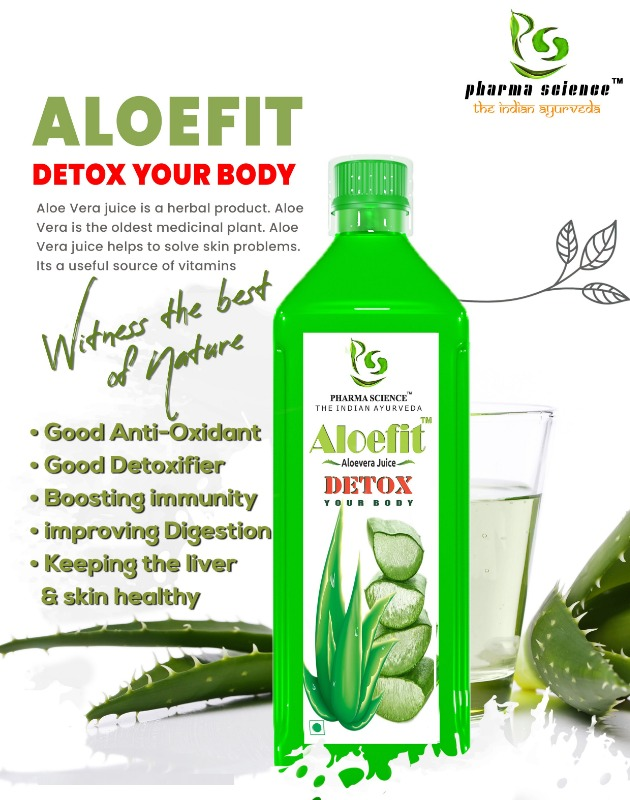 Pharma Science Aloe Vera Juice with Rich Fiber, All-Rounder Tonic for Skin and Hair : 1 L in  listed under Offerings - Deals n Discounts