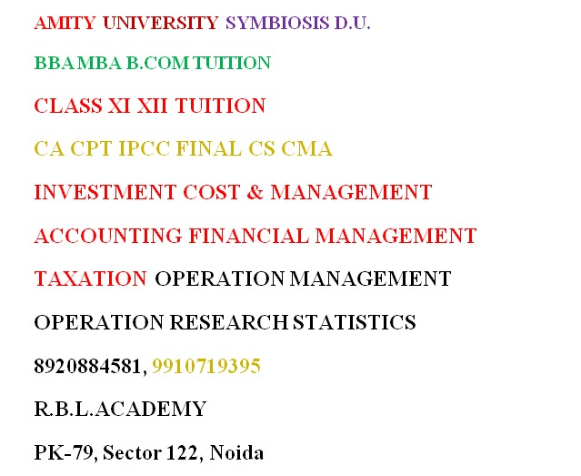 accounts online tuition economics online tuition business online tuition Best online / home tutor fo in Noida