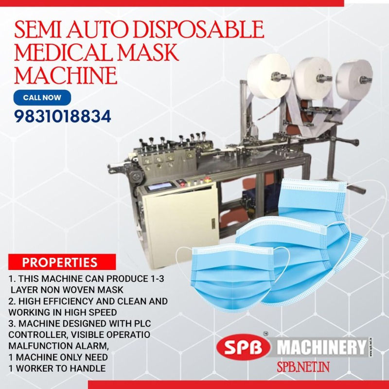 Semi Automatic Disposable Mask Making Machine in india in  listed under Offerings - Anything on Sale