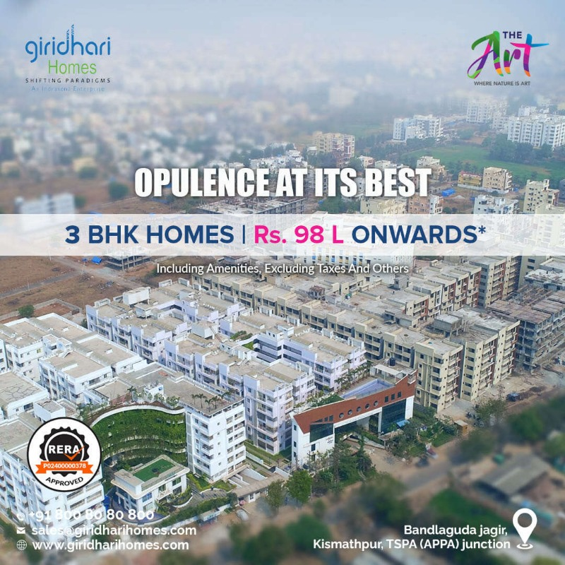 3BHK Flats for Sale in Kismatpur | Giridhari Homes in  listed under Real Estate - Appartments for Sale
