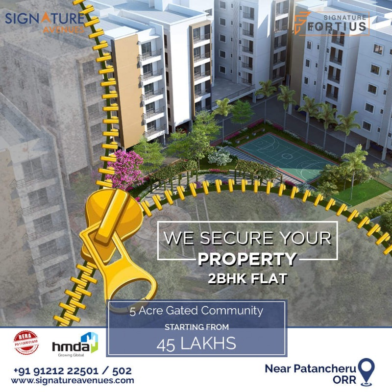 2BHK flats in Patancheruvu in  listed under Real Estate - Appartments for Sale