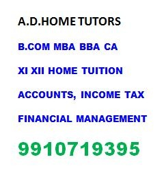 Best online / home tutor for all subjects of Class 11 and 12 Accounts, Business Studies economics in  listed under Education - Coaching / Tuitions