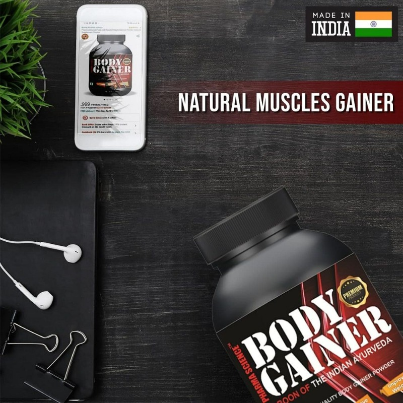 Ayurvedic Strong Body Gainer Powder || Body Growth & Health Supplement || Weight, Muscle & Mass Gain in  listed under Offerings - Anything on Sale