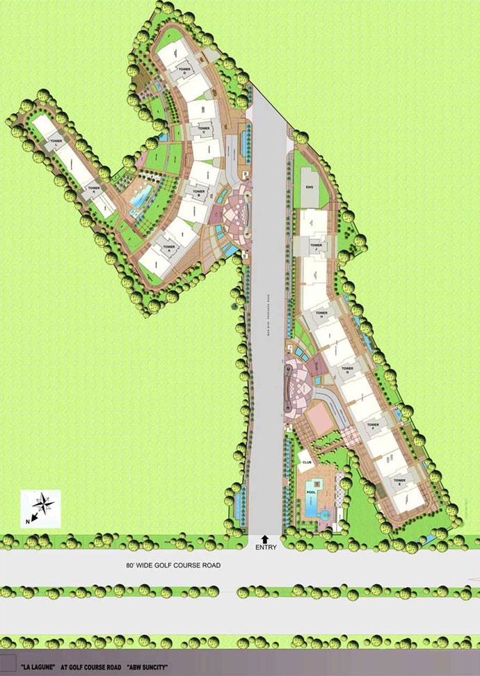 La Lagune apartment for rent in sector 54 Gurgaon
