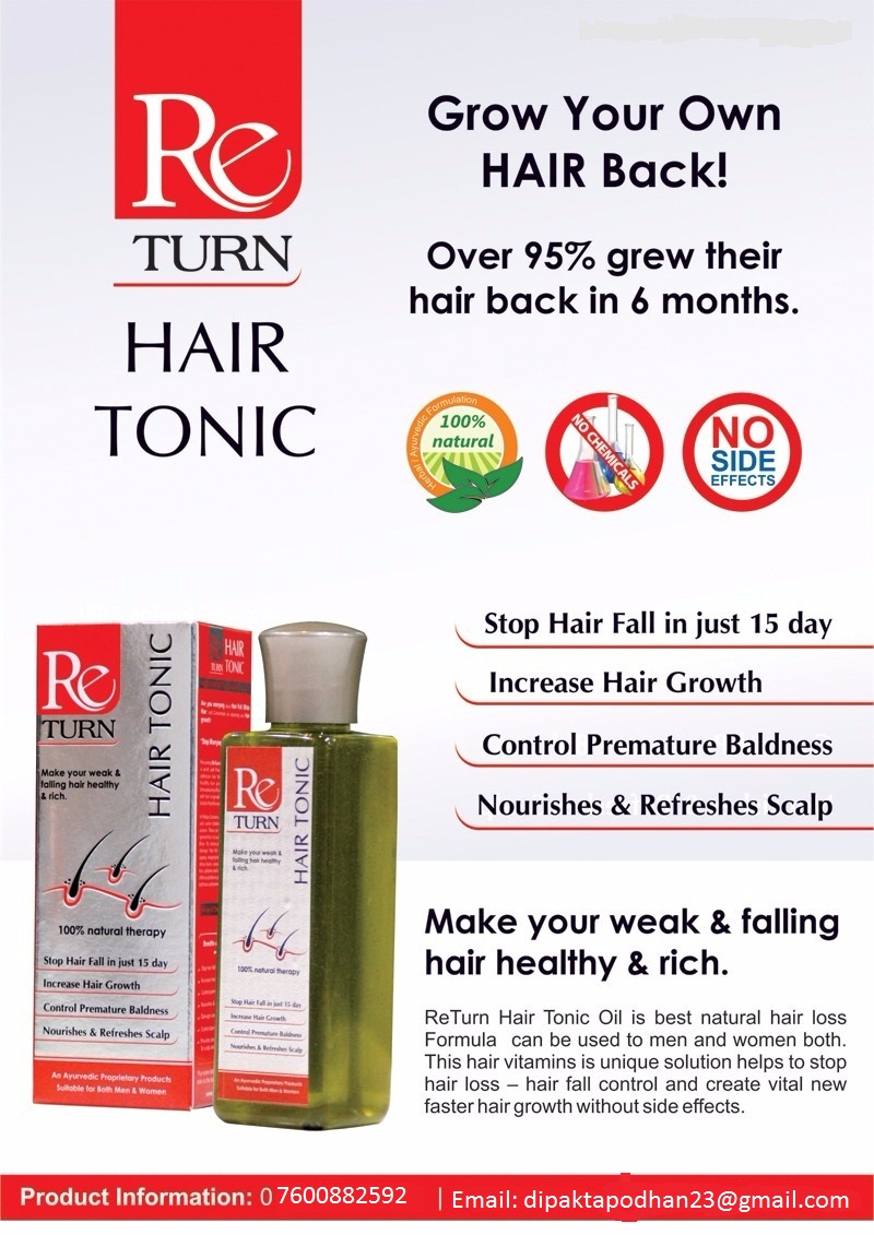 ReTurn Hair Tonic - Hair Growth Vitamins Supplements