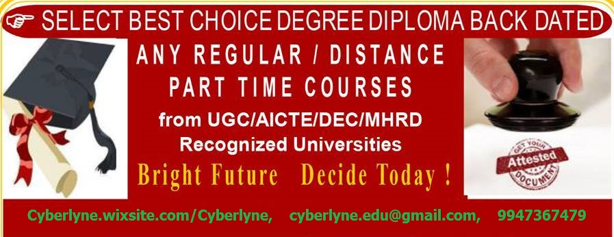 One Sitting Fast Track DEGREE, PG, B TECH, M TECH Thru Continuing Education