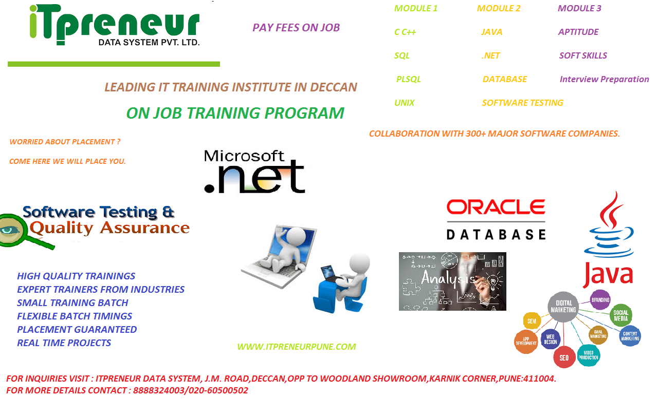IT CERTIFICATION TRAINING WITH GUARANTEED JOB PLACEMENT ASSISTANCE