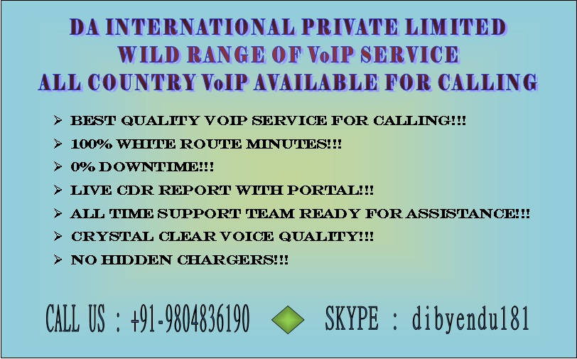 Super High Quality VoIP Minutes and DID,Toll - free number provider ..call now at +91-9804836190