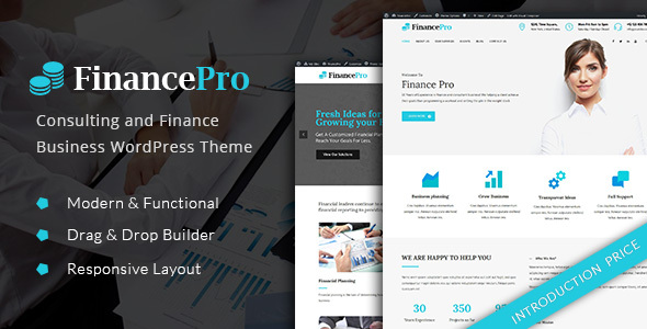 An Amazing FinancePro - Consulting and Finance Business WordPress Theme